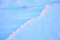Lago tundra durante el día de invierno frío, visión superior Imagenes de archivo