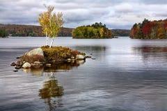 Lago Tupper, montagne di Adirondack Immagine Stock Libera da Diritti