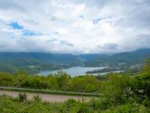 Lago Turano visto de cima de Fotografia de Stock Royalty Free