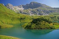 Lago turquoise - Schrecksee Foto de archivo
