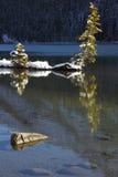 Lago two Jack a Banff Immagini Stock