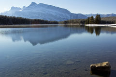 Lago two Jack a Banff Fotografie Stock