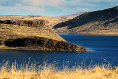Lago Umayo, perto do titicaca no puno peru Imagens de Stock Royalty Free