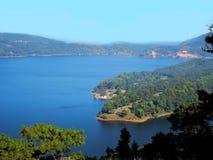 Lago Umiam (lago) Barapani, Shillong, Meghalaya, India, Asia fotografia stock libera da diritti