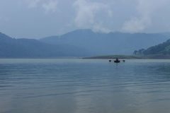 Lago Umiam (lago) Barapani, Shillong, Meghalaya, la India, Asia Fotografía de archivo