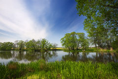 Lago, vacanzieri Fotografie Stock