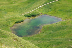 Lago in Val Gardena Fotografia Stock