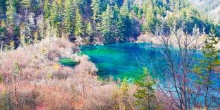 Lago in valle 2 di Jiuzhai Fotografie Stock Libere da Diritti