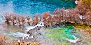 Lago in valle di Jiuzhai Fotografie Stock