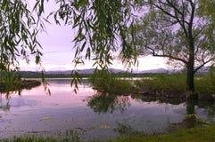 Lago varese, paisaje imagen de archivo