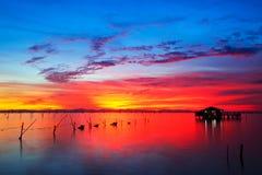 Lago variopinto Fotografia Stock