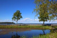 Lago Vattern na Suécia Imagem de Stock Royalty Free
