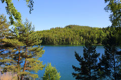Lago Vattern na Suécia Foto de Stock Royalty Free