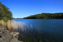 Lago Vattern in Svezia Immagine Stock