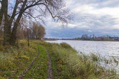 Lago Velikoye, Hlybokaye foto de archivo