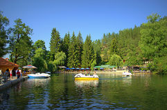 Lago Velingrad Bulgaria Kleptuza Immagini Stock Libere da Diritti