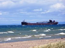 Lago ventoso Imagens de Stock Royalty Free