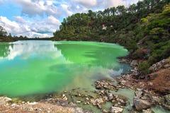 Lago verde immagine stock