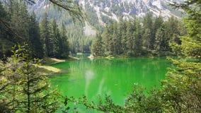 Lago verde asombroso en Austria Imágenes de archivo libres de regalías