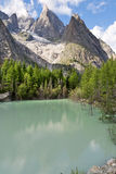 Lago Verde - Green Lake, Courmayeur Stock Image