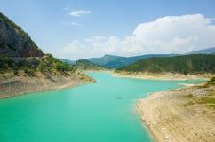 Lago verde Imotski Croazia Fotografia Stock Libera da Diritti