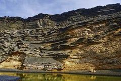Lago Verde Lanzarote Immagine Stock Libera da Diritti