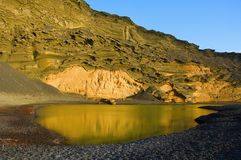 Lago Verde in Lanzarote Canary Islands Royalty Free Stock Image