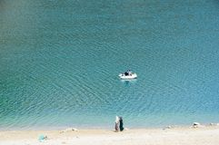 Lago verde Marrocos imagem de stock