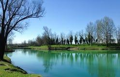 Lago verde para pescar Fotografía de archivo libre de regalías