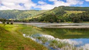 Lago verde in sao Miguel, Azzorre Immagini Stock