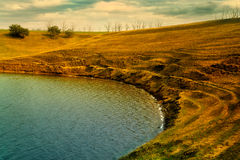 Lago verde smeraldo Immagini Stock