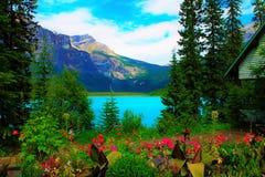 Lago verde smeraldo Fotografia Stock Libera da Diritti