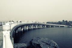 Lago verde smeraldo, l'Anhui, Cina Immagine Stock