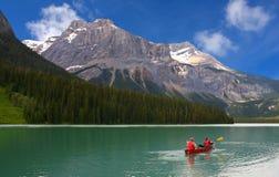 Lago verde smeraldo, sosta nazionale di Yoho, Canada Immagini Stock Libere da Diritti