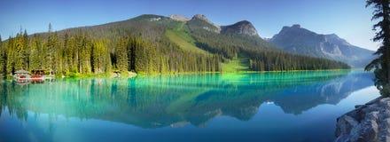Lago verde smeraldo, sosta nazionale di Yoho, Canada Fotografia Stock