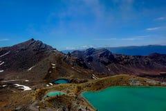 Lago verde smeraldo sull'incrocio di tongariro Immagine Stock Libera da Diritti
