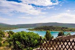 Lago Verdon Immagine Stock
