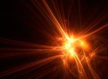 Lago vermelho abstrato do fractal uma explosão da energia Imagem de Stock
