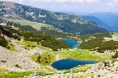 Lago Vidal e Calcescu em montanhas de Parang Foto de Stock