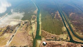 Lago view dell'uccello in autunno Fotografie Stock