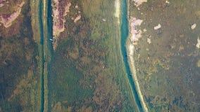 Lago view dell'uccello in autunno Fotografia Stock Libera da Diritti