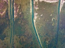 Lago view dell'uccello in autunno Immagini Stock Libere da Diritti