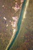 Lago view dell'uccello in autunno Immagini Stock