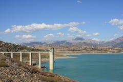 Lago Vinuela (España) Imagen de archivo libre de regalías