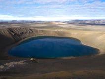 Lago Viti, Islândia do norte Fotografia de Stock Royalty Free