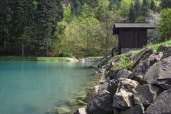 Lago Vodarenska em Banska Stiavnica foto de stock