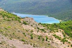 Lago Vrana Cres Fotografia de Stock Royalty Free