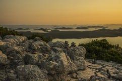 Lago Vransko ed isole di Kornati Fotografia Stock Libera da Diritti