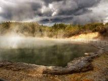 Lago vulcânico, Nova Zelândia Imagens de Stock Royalty Free