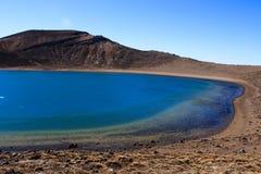 Lago vulcanico blu Fotografia Stock